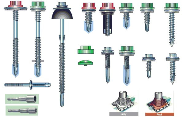 Range of Fixings