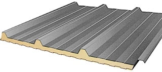 Insulated steel roofing sheets